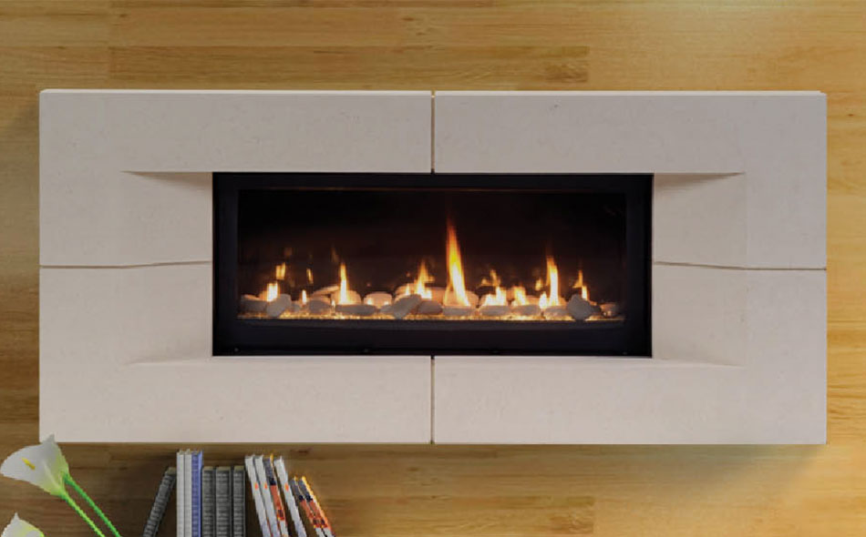 free standing gas fireplace images