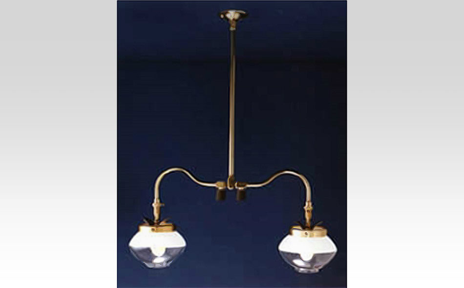 Double Ceiling Pendant Gas Light